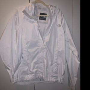 North Face White Rain Jacket